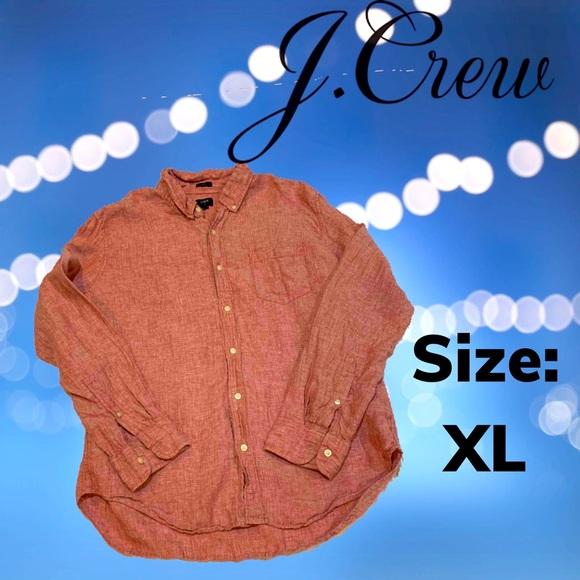 J. Crew Slim Fit Linen Button Down